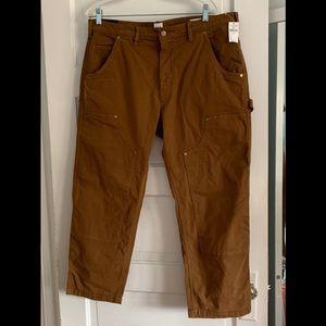 Gap men's work style cropped khakis